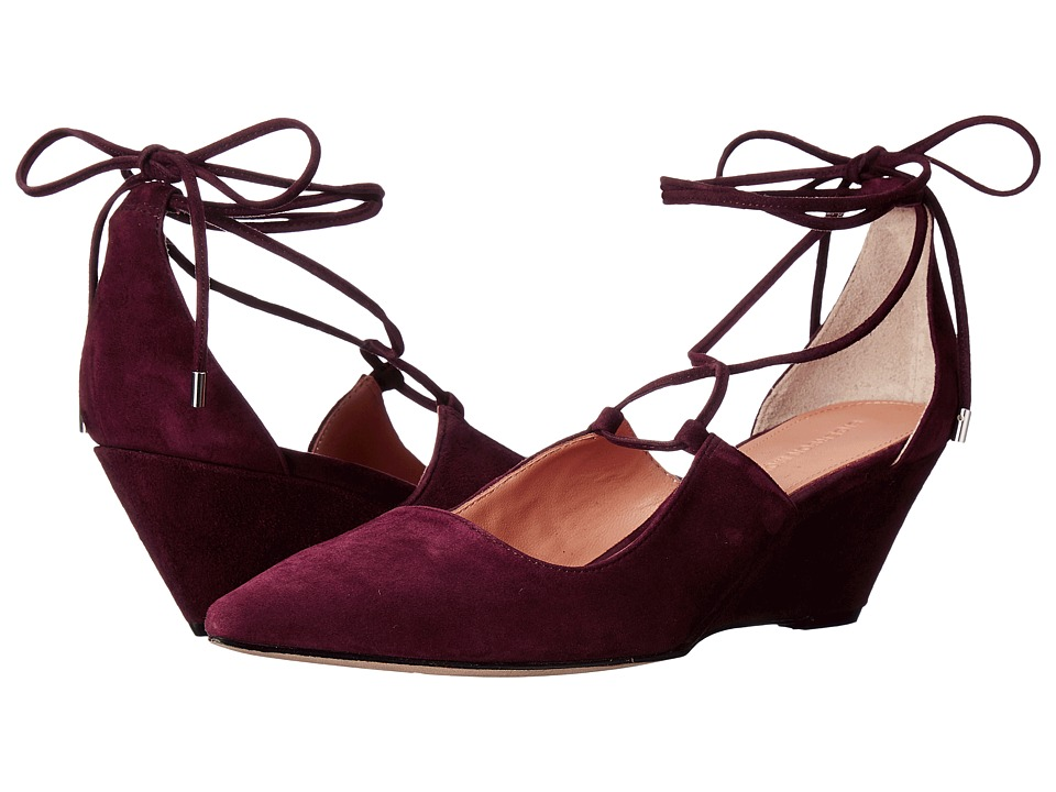 Sigerson Morrison - Wynne (Bordo Suede) Women's Shoes