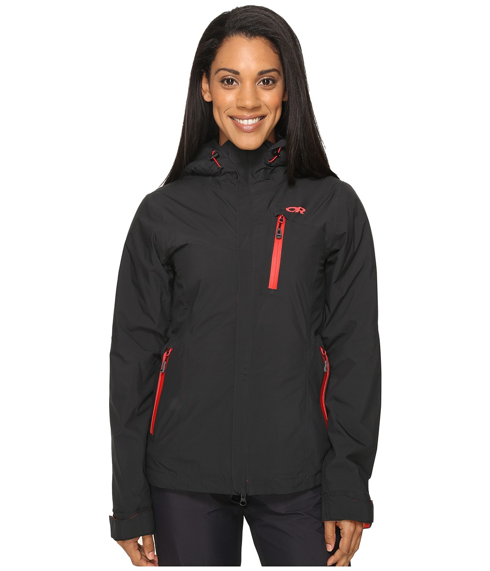 Outdoor Research - Offchute Jacket (Black/Flame) Women's Coat
