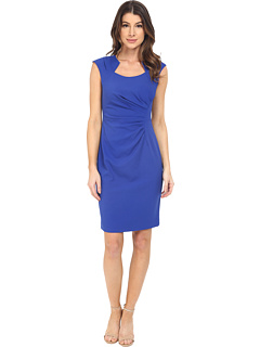 Cap Sleeve Ruched Sheath Dress by Calvin Klein