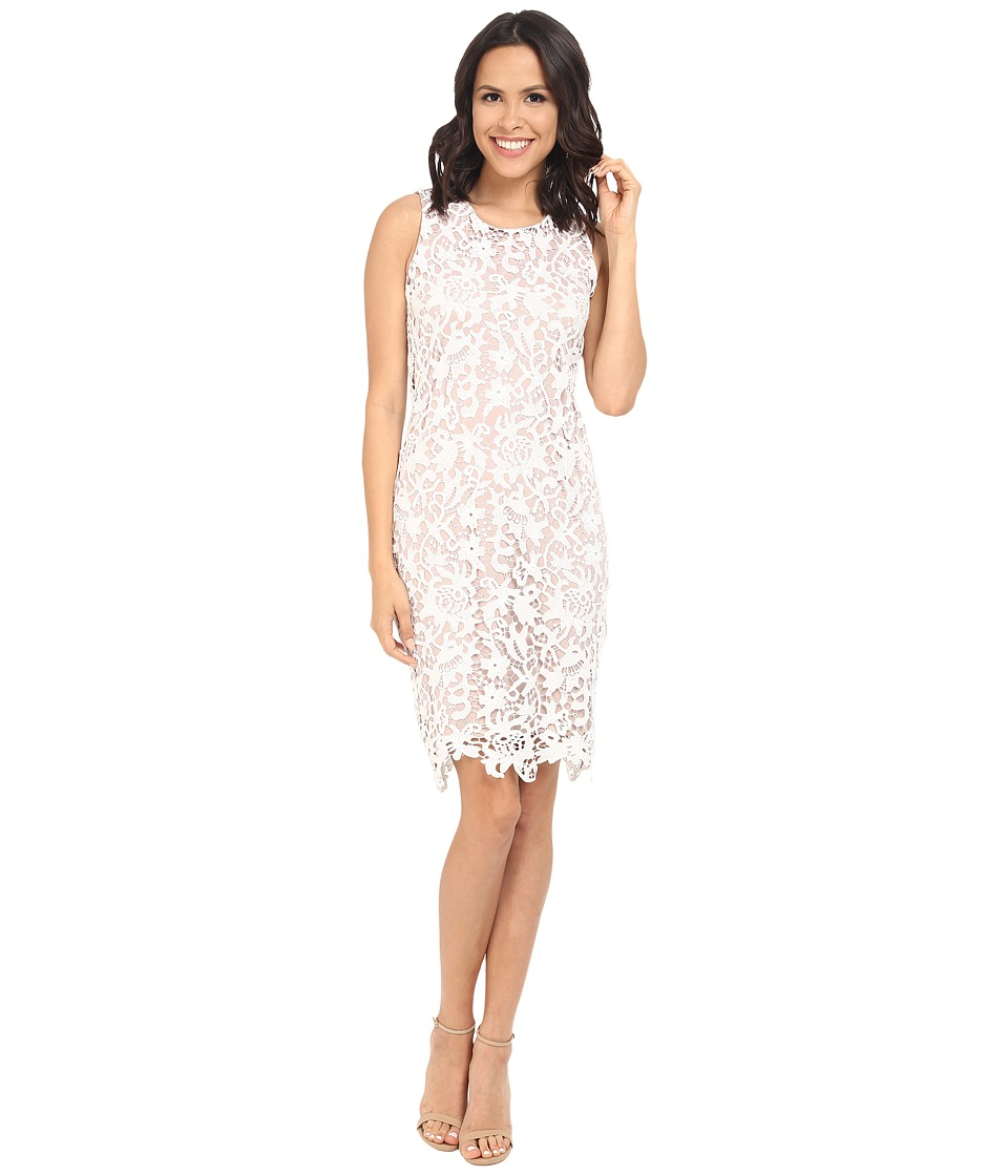 Calvin Klein - Floral Lace Dress CD6L2U9N (White Nude) Women's Dress