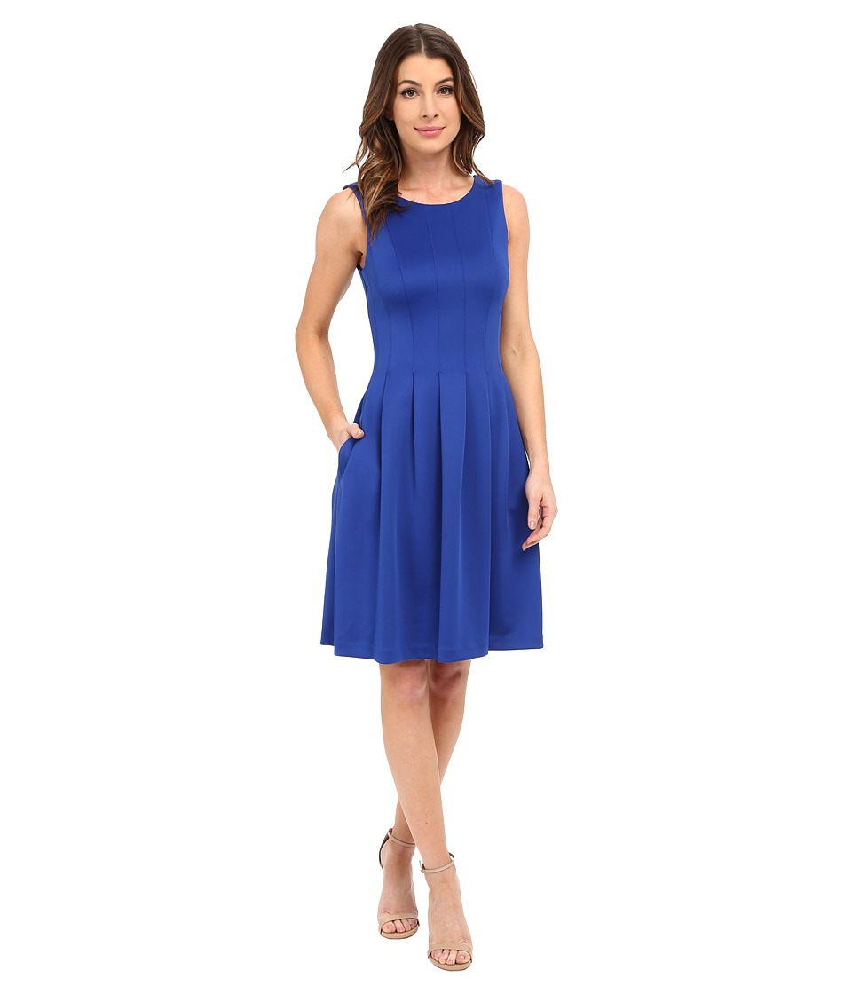 Calvin Klein - Pleated Fit and Flair Dress CD6M1A6U (Atlantis) Women's Dress