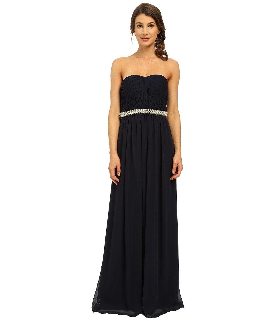 Calvin Klein - Strapless Gown with Beading at Waist CD6B13N6 (Twilight) Women's Dress