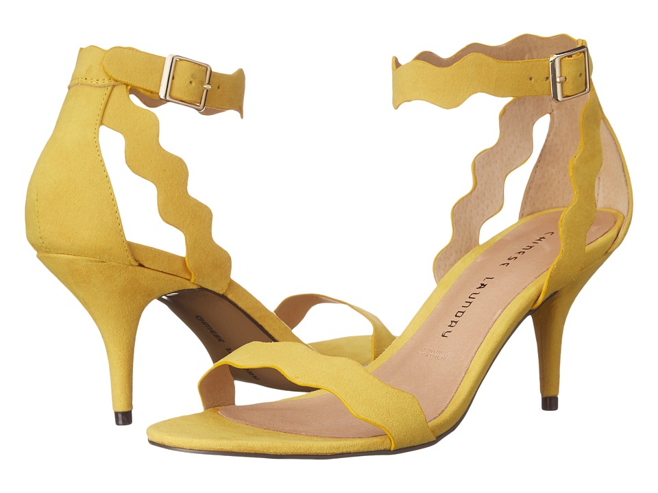 Chinese Laundry - Rubie Scalloped Sandal (Yellow) High Heels