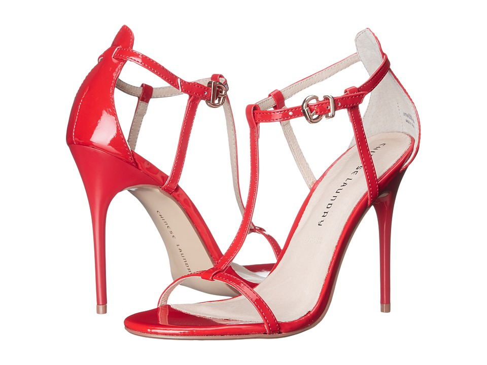 Chinese Laundry Leo T Strap Sandal (Rosie Red) High Heels