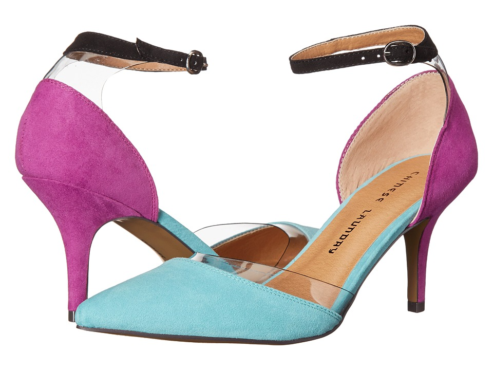 Chinese Laundry - Only You (Teal/Orchid) High Heels
