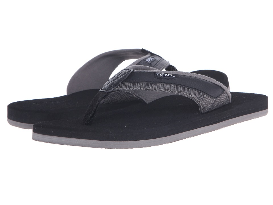 Flojos - Jay (Black/Gray) Men's Sandals