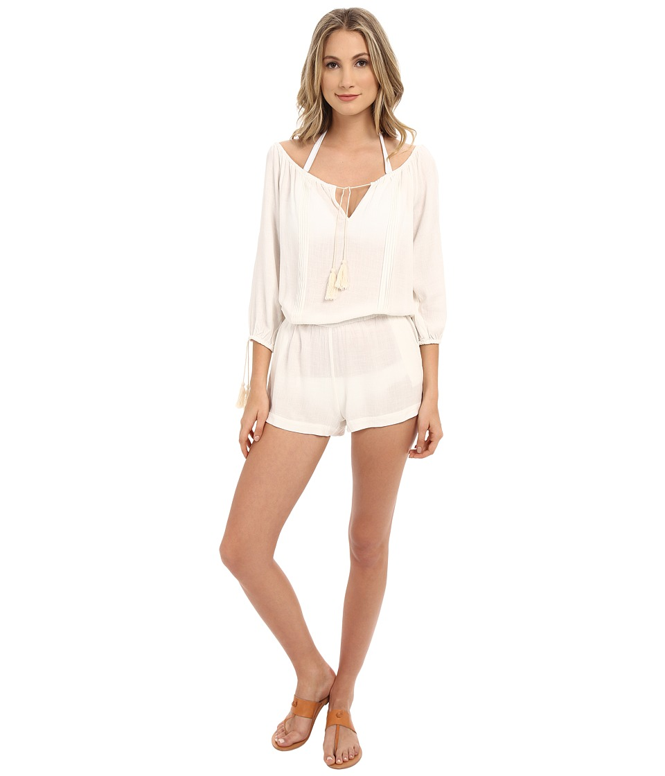 L*Space - Ocean City Romper Cover-Up (Ivory) Women's Swimsuits One Piece