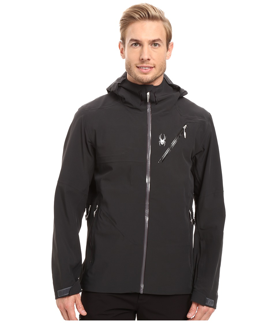 Spyder - Eiger Shell Jacket (Black/Polar) Men's Coat