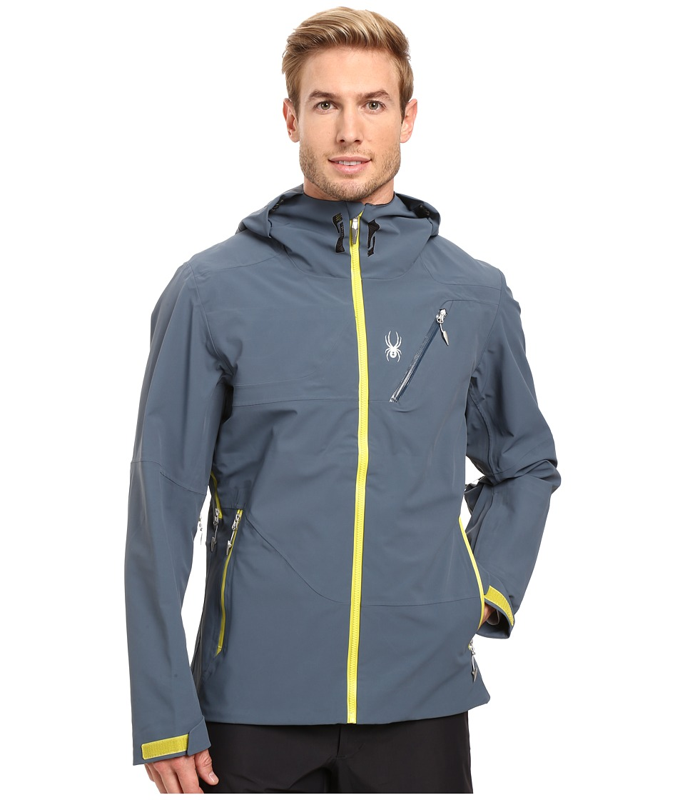 Spyder - Eiger Shell Jacket (Union Blue/Sulfur) Men's Coat