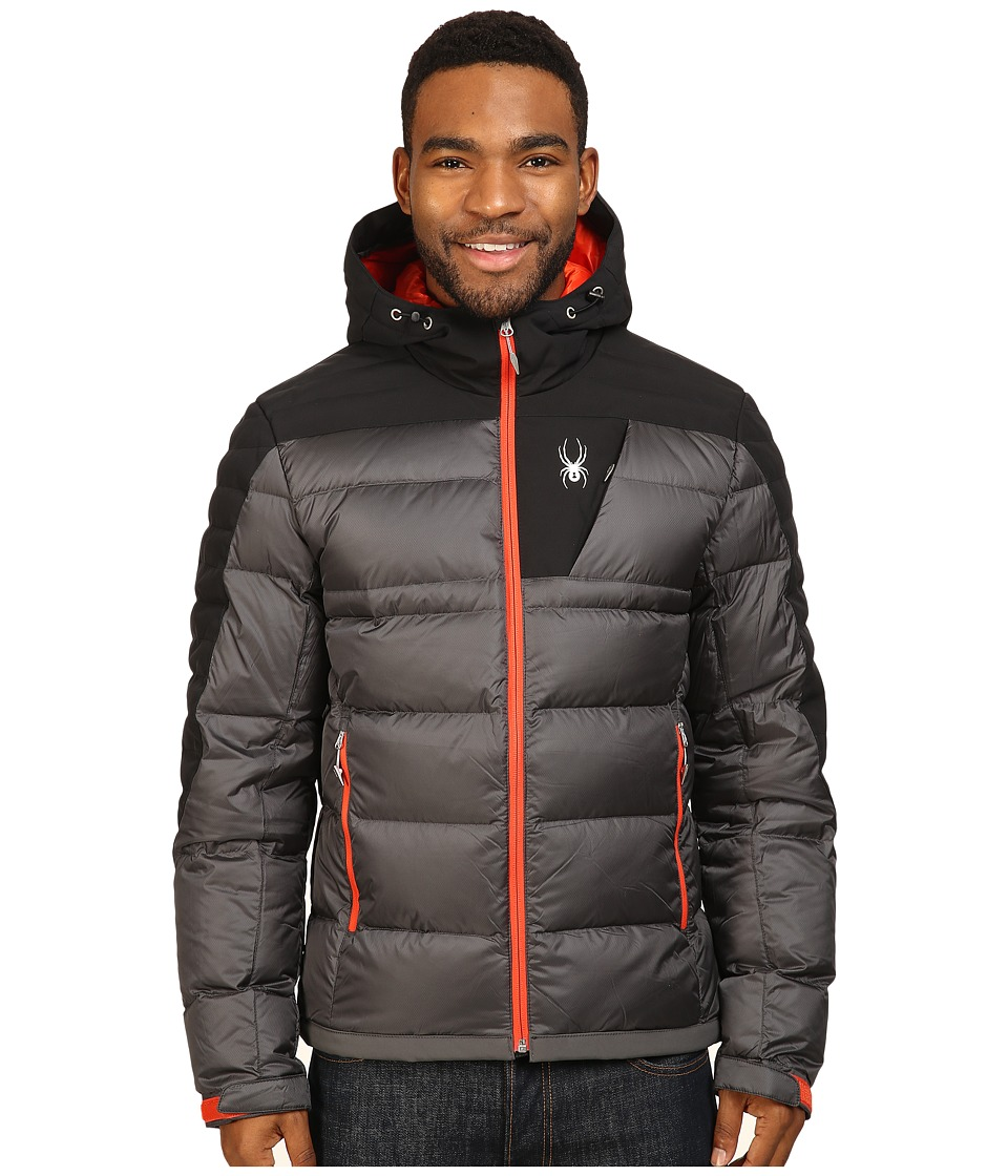 Spyder - Bernese Down Jacket (Polar/Black/Rage) Men's Coat