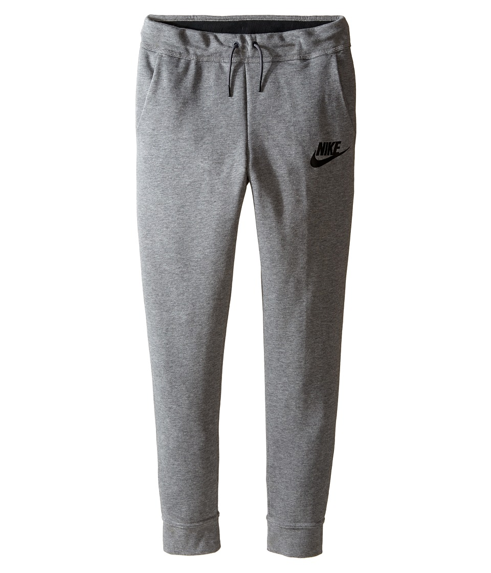 Nike Kids - Sportswear Modern Pant (Little Kid/Big Kid) (Carbon Heather/Dark Grey/Black/Black) Girl's Casual Pants