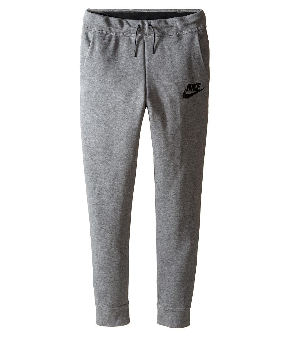 Nike Kids - Sportswear Modern Pant (Little Kid/Big Kid) (Carbon Heather/Dark Grey/Black/Black) Girl's Casual Pants