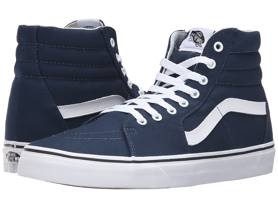 Vans - SK8-Hi ((Canvas) Dress Blues/True White) Skate Shoes