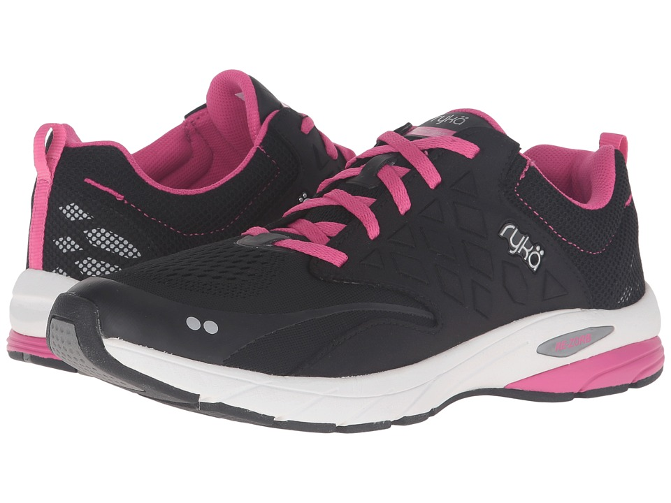 Ryka Knock Out (Black/Fuchsia Purple/Chrome Silver) Women