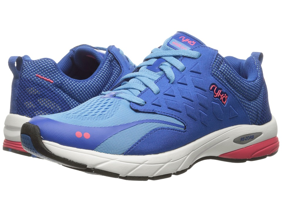 Ryka Knock Out (Ethereal Blue/Royal Blue/Coral Rose) Women