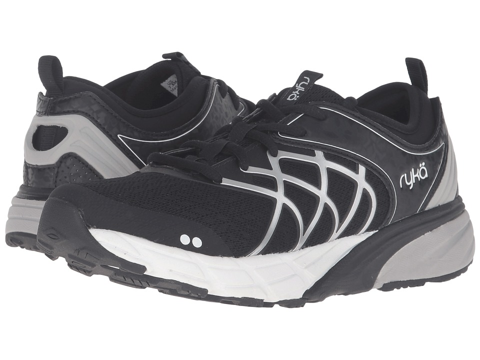 Ryka - Nalu (Black/White/Chrome Silver) Women's Shoes
