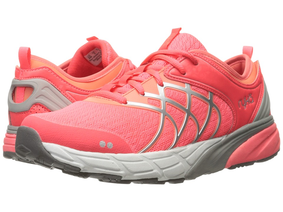Ryka Nalu (Coral Rose/Fusion Coral/Chrome Silver) Women