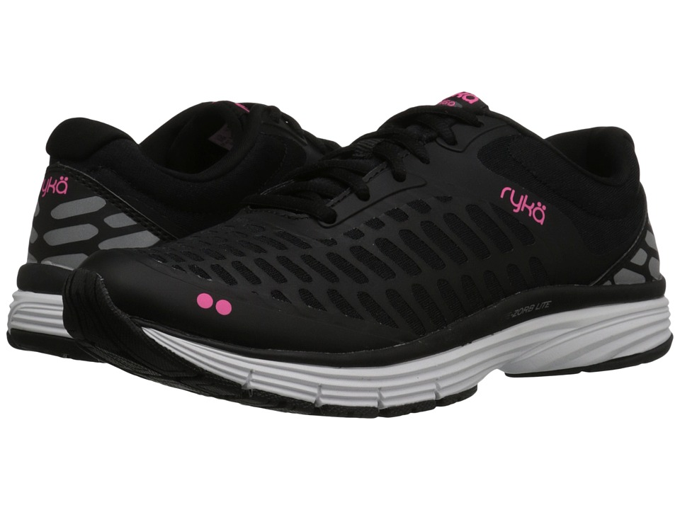Ryka Indigo (Black/Iron Grey/Neon Flamingo) Women