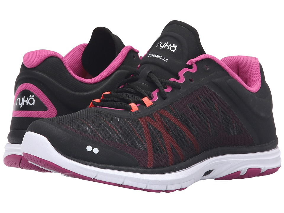Ryka - Dynamic 2 (Black/Bougainvillea/Electric Coral) Women's Shoes