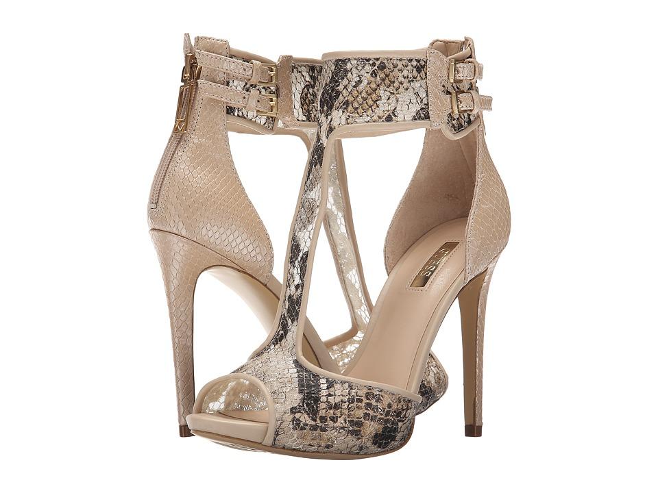 GUESS - Apola (Camel Fabric) High Heels
