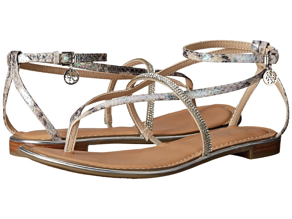 GUESS - Rallie (Beige Synthetic) Women's Sandals