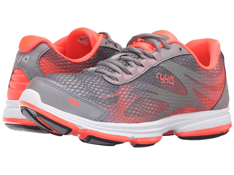 Ryka - Devotion Plus 2 (Frost Gre/COol Mist Grey/Electric Coral) Women's Shoes