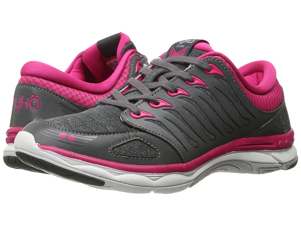 Ryka Flora (Iron Grey/Ryka Pink/Vapor Grey) Women
