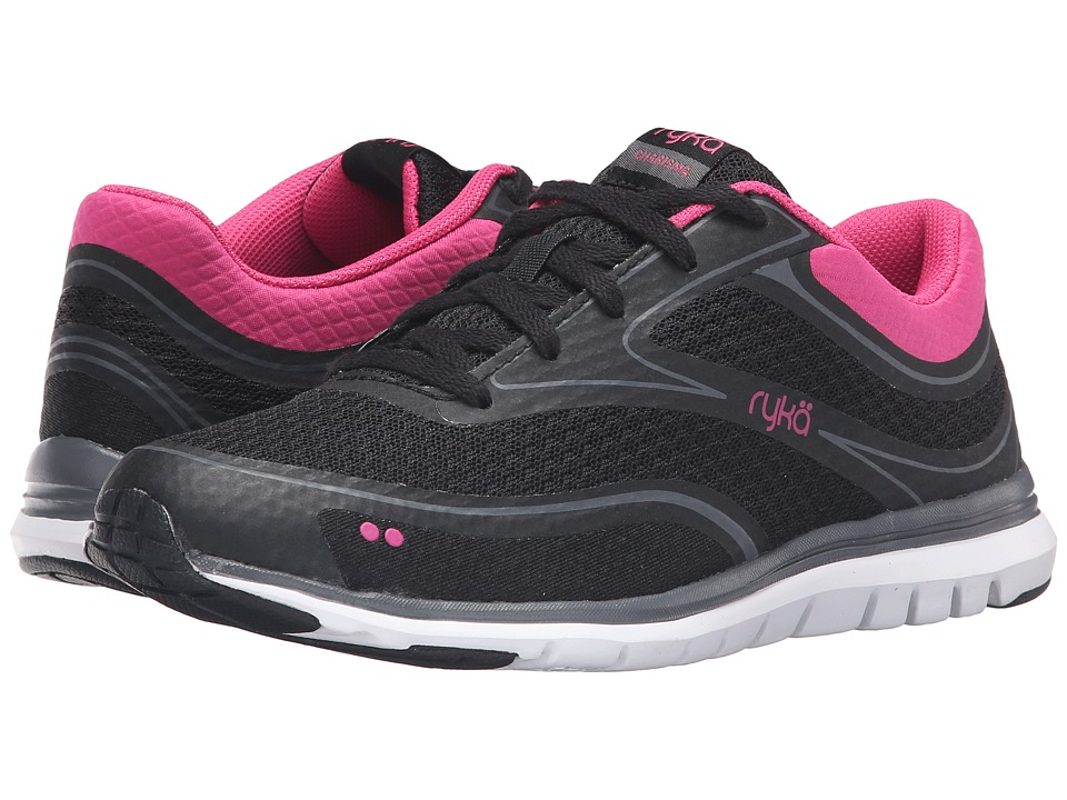 Ryka - Charisma (Black/Fuchsia Purple/Iron Grey) Women's Shoes