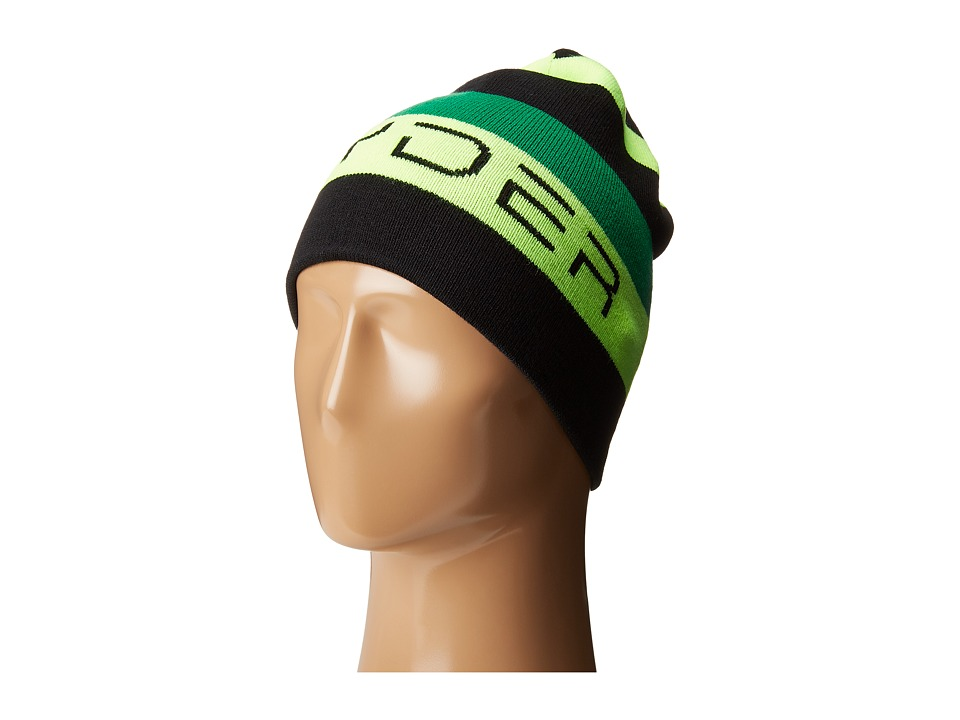 Spyder Kids - Duo Reversible Hat (Big Kids) (Black/Bryte Green/Jungle) Beanies