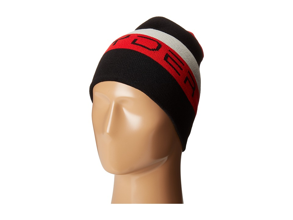 Spyder Kids - Duo Reversible Hat (Big Kids) (Black/Red/Cirrus) Beanies