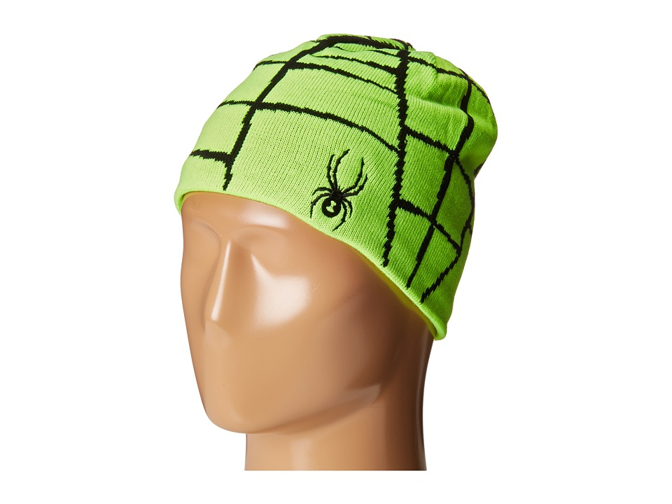 Spyder Kids - Web Hat (Big Kids) (Bryte Green/Black) Beanies