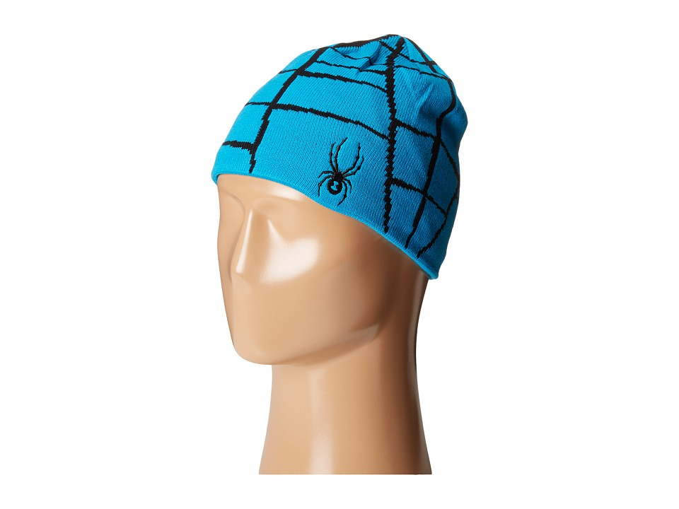 Spyder Kids - Web Hat (Big Kids) (Electric Blue/Black) Beanies