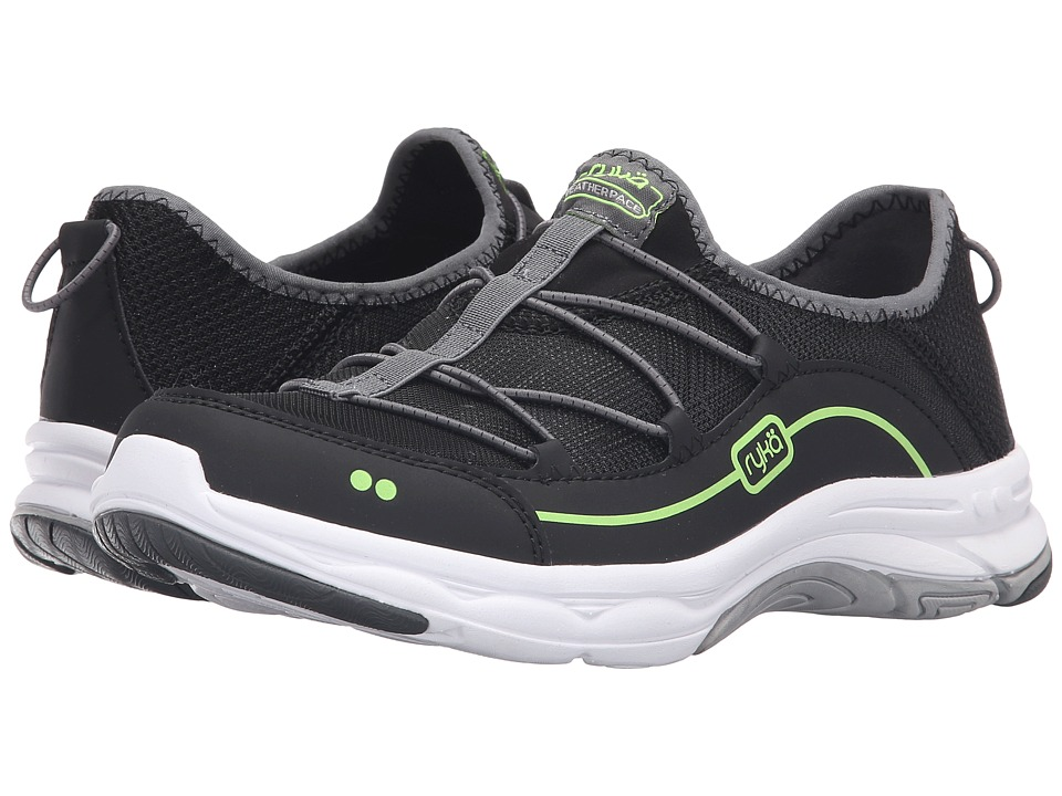 Ryka - Feather Pace (Black/Iron Grey/Lime Shock) Women's Shoes