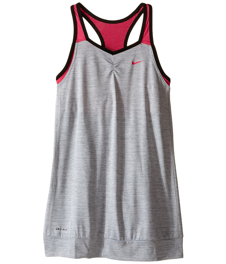 Nike Kids - Training Tank (Little Kids/Big Kids) (Cool Grey/Vivid Pink/Black/Vivid Pink) Girl's Sleeveless