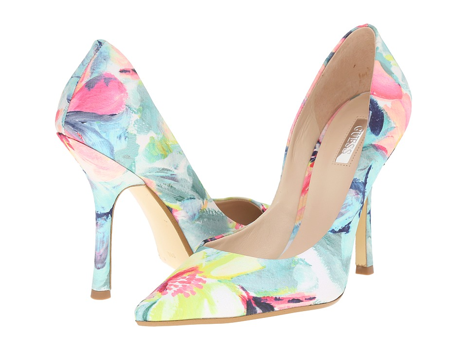 GUESS - Carrie2 (Floral Fabric) High Heels