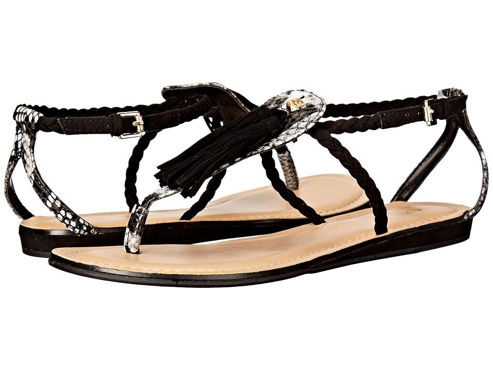 GUESS - Frannie (Black Suede) Women's Sandals