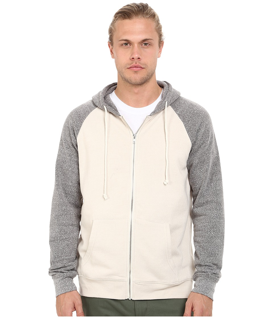 Threads 4 Thought - Malibu Raglan Hoodie (Birch/Heather Grey) Men's Sweatshirt
