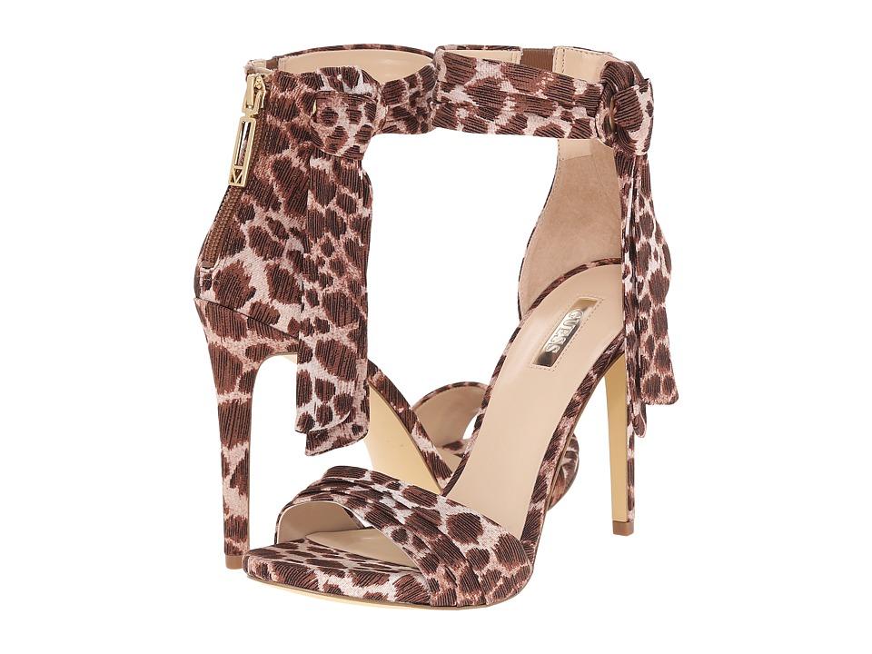 GUESS - Allen (Beige Fabric) High Heels