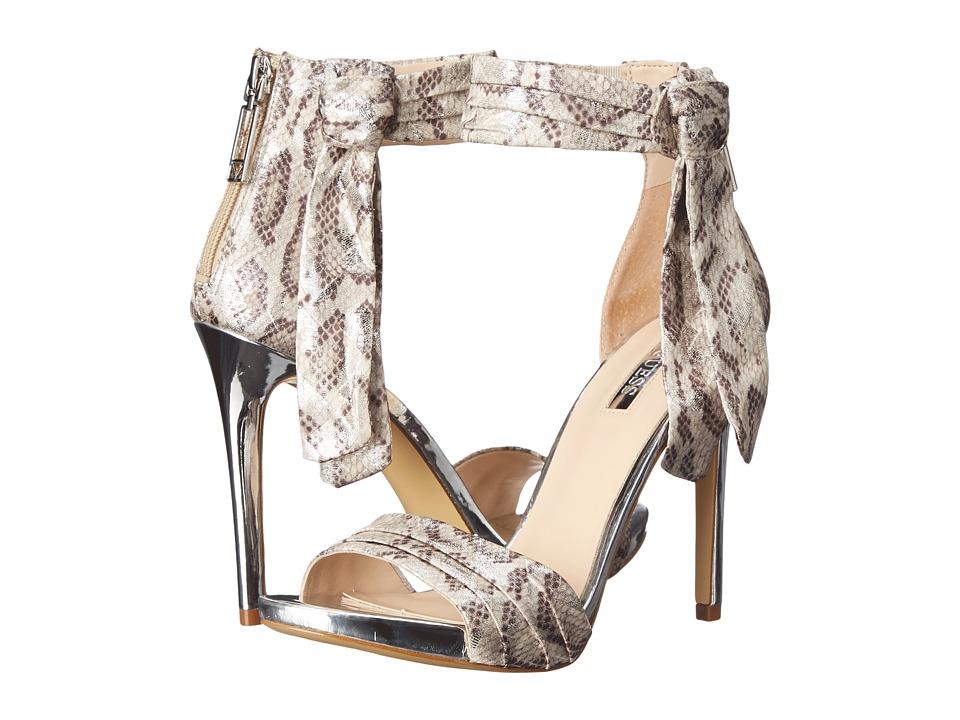 GUESS - Allen (Silver Fabric) High Heels