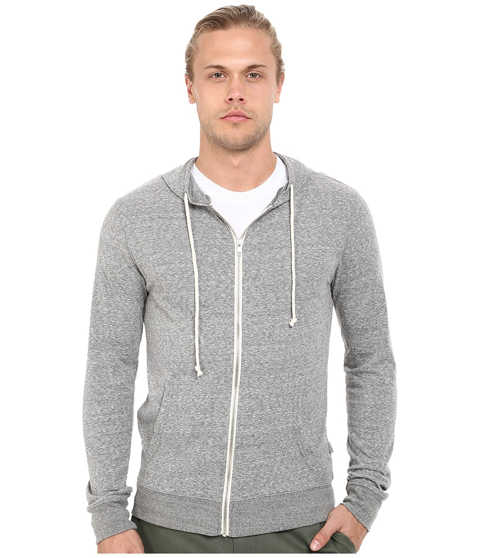 Threads 4 Thought - Giulio Tri-Blend Jersey Hoodie (Heather Grey) Men's Sweatshirt