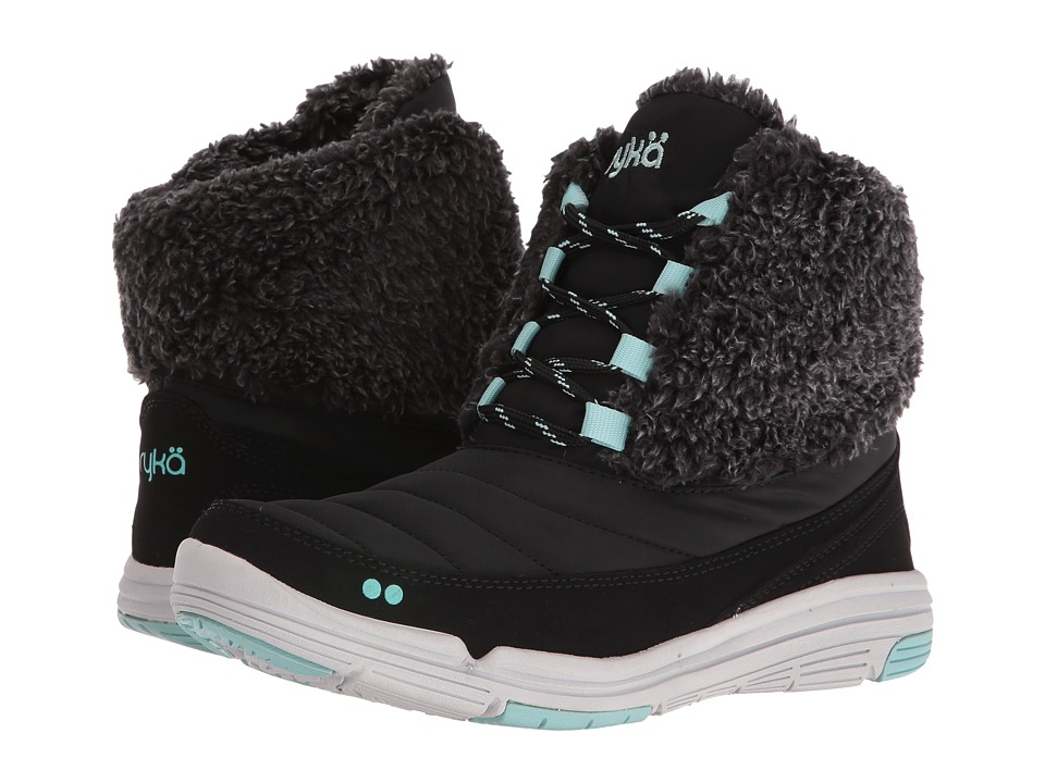 Ryka Addison (Black/Yucca Mint/Vapor Grey) Women