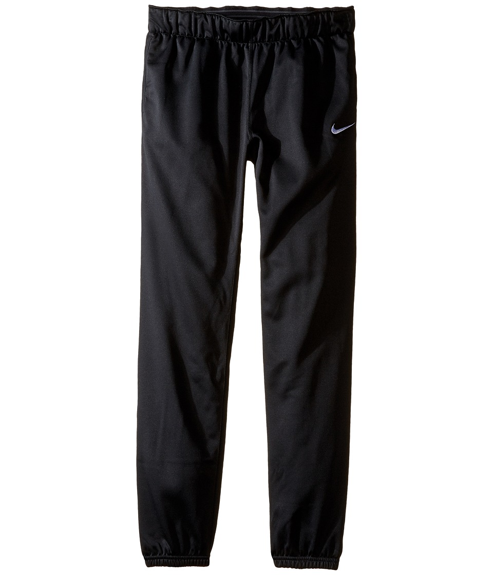 Nike Kids - Thermal Cuffed Pant (Little Kid/Big Kid) (Black/White) Girl's Casual Pants