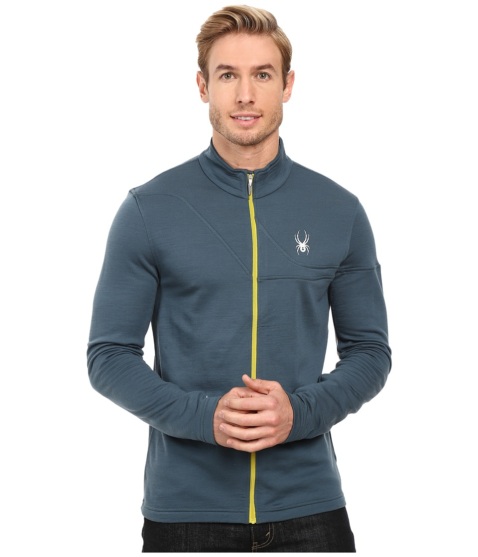 Spyder - Eiger Wool T-Neck Top (Union Blue/Cirrus/Sulfur) Men's Sweatshirt