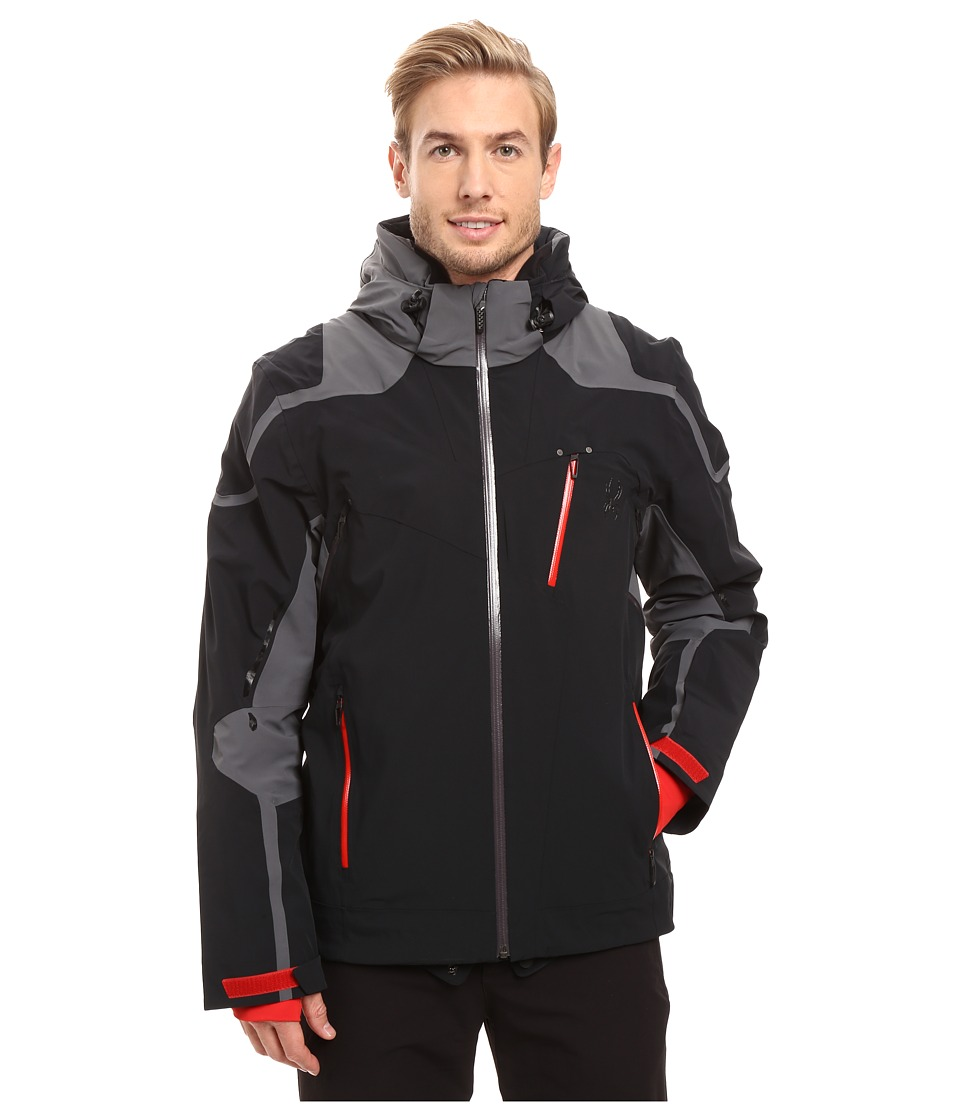 Spyder - Bromont Jacket (Black/Polar/Red) Men's Coat