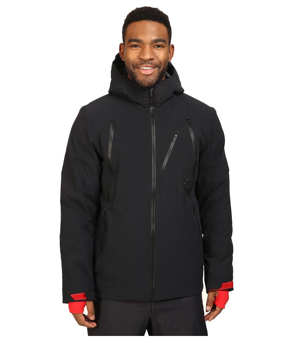 Spyder - Hokkaido Jacket (Black/Black/Red) Men's Coat