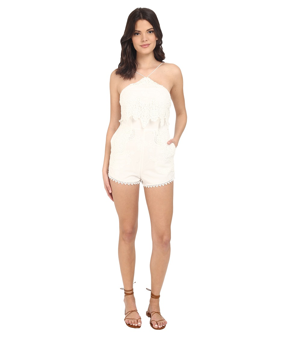 The Jetset Diaries - Paradise Romper (Ivory) Women's Jumpsuit & Rompers One Piece