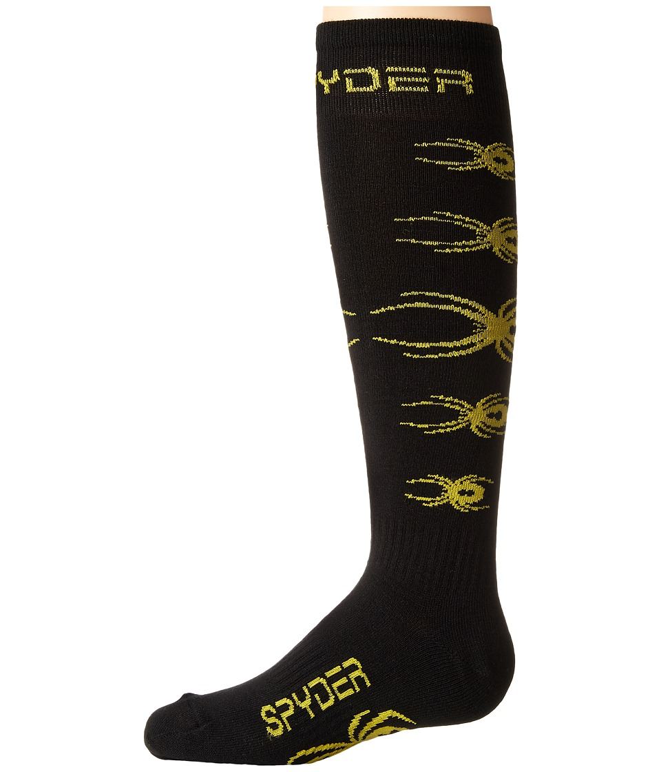 Spyder Kids - Bug Out Sock (Toddler/Little Kid/Big Kid) (Black/Sulfur) Boys Shoes