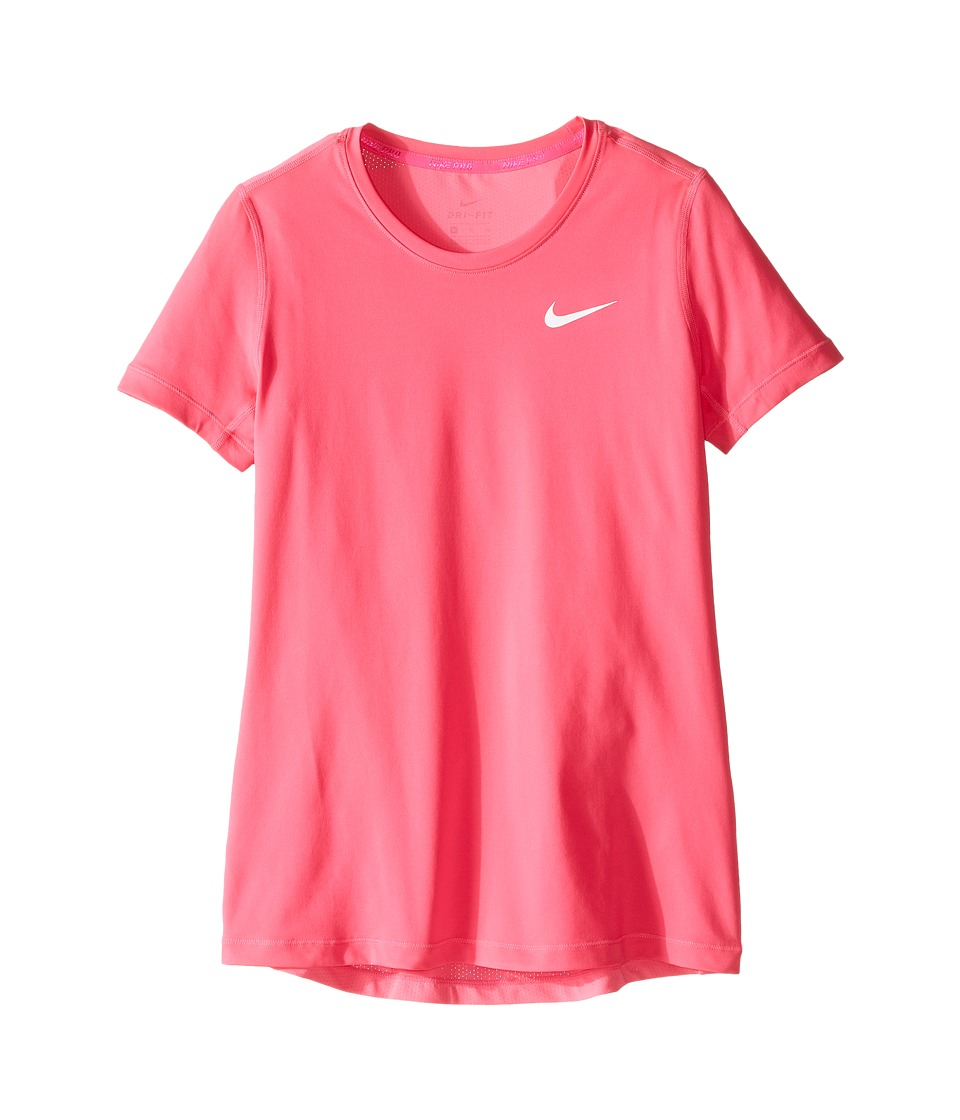 Nike Kids - Pro Cool Short Sleeve Training Top (Little Kids/Big Kids) (Hyper Pink/Hyper Pink/White) Girl's Clothing