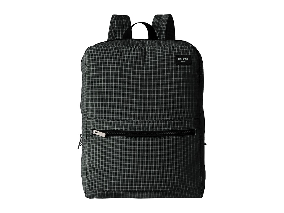 Jack Spade - Packable Graph Check Backpack (Black) Backpack Bags