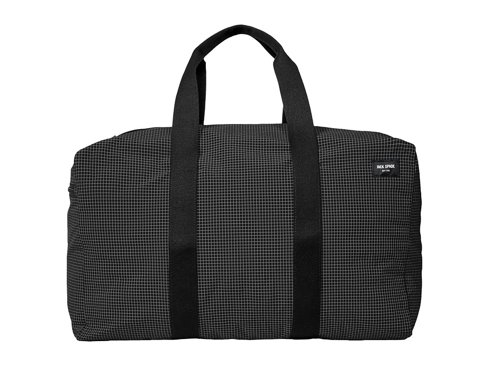 Jack Spade - Packable Graph Check Duffel Bag (Black) Duffel Bags